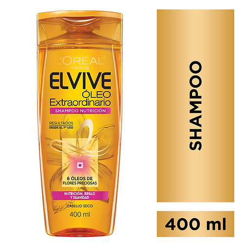 Elvive Shampoo Oleo Extraordinario Nutricion x 400 ml.