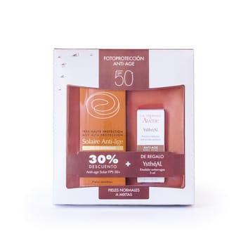 Avene Kit solar Anti-age SPF 50 con 30% OFF  MM de Ystheal Emulsion de REGALO