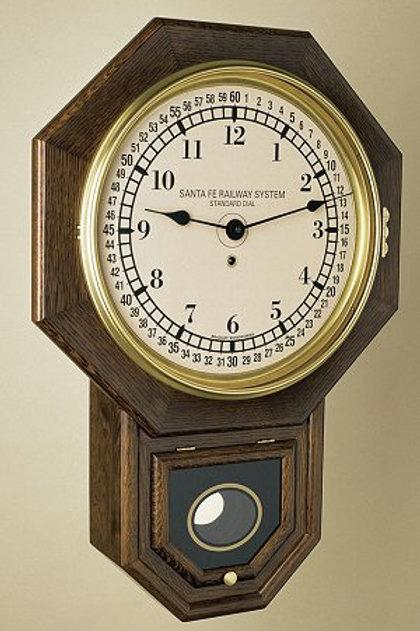 Santa Fe Railroad System Regulator Clock