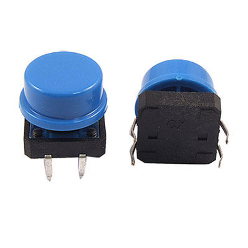 Tactile Switches w/Colored Cap 2pk or 5pk
