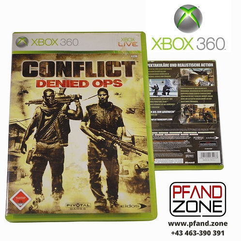 """X BOX 360 Game """"CONFLICT"""""""