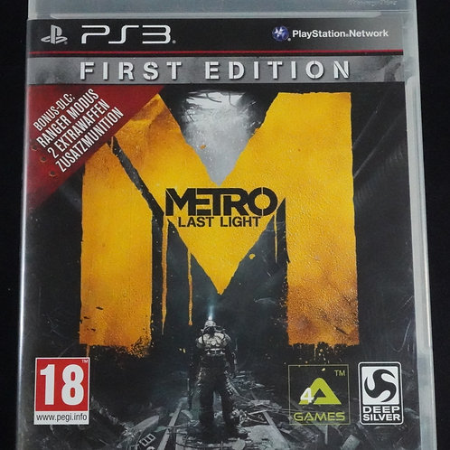 """PS 3 Game """"METRO last light"""" first edition"""