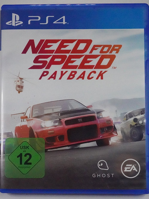 """PS 4 Game """"NEED for SPEED"""" payback"""