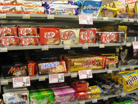 Supermarkt impuls aankopen voorkomen