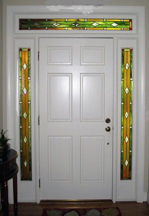 Amber Glass Entryway