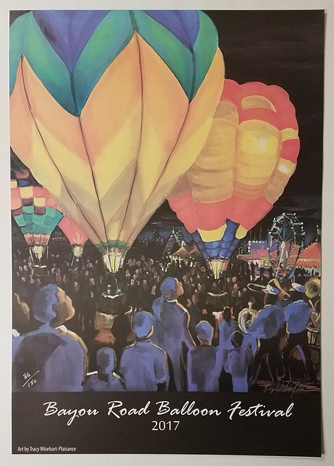 2017 Bayou Road Balloon Festival Print (signed & numbered)
