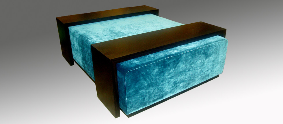 Ottoman with Two Up and Over Tables