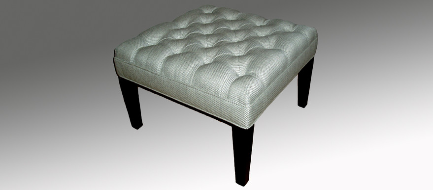 Square Deep Buttoned Top Stool
