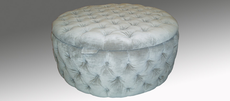 Round Deep Buttoned Stool