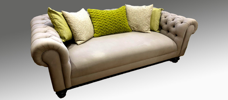 Chesterfield Fixed Seat Sofa 207 x 109