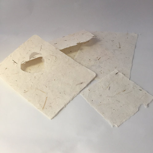 Handmade Paper Envelope & Card Set With Heart