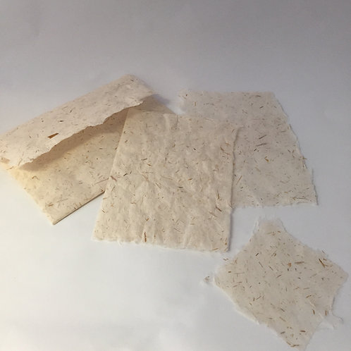 Handmade Paper Envelope & Card Set