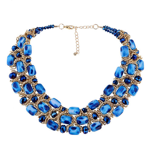 Beautiful Blue Chunky Necklace