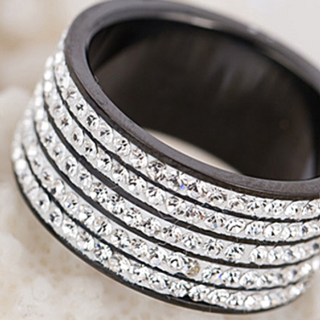 5 Row Stainless Steel Bling Ring