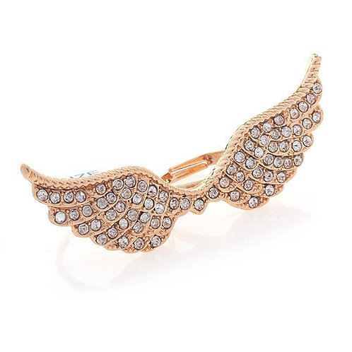 Double Ring Angel Wing