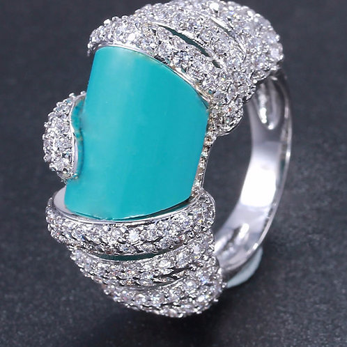 Turquoise Beauty Platinum Plated Ring