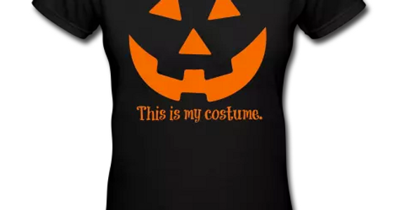 Woman's VNeck Halloween Tshirt