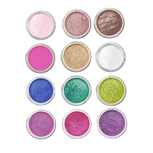 12 Colorful Shimmer Shadow Collection