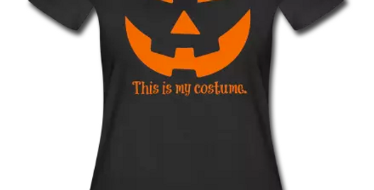 Women's Black Halloween  V-Neck T-Shirt
