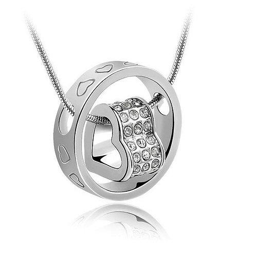 Crystal Design Heart Necklace