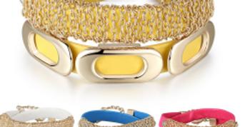 Beautiful Trendy Real Leather Wrap Around Bracelet