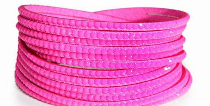 Wrap Around Bling Bracelet (Hot Pink)
