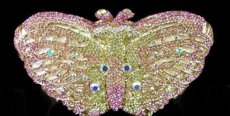Butterfly Clutch Pink/Gold