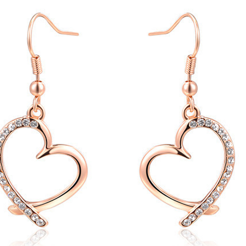 Heart Shaped Drop High Quality Earrings