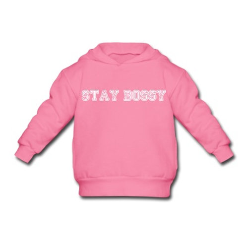 Stay Bossy Toddler Pink Hoodie