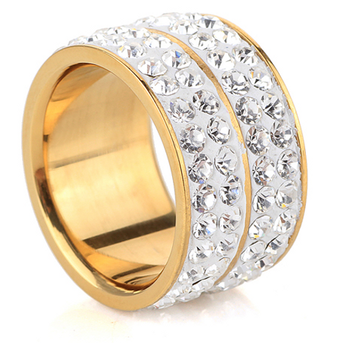 4 Row Bling Ring (Gold)