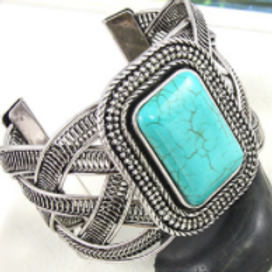 Silver Plated Turquoise bangle