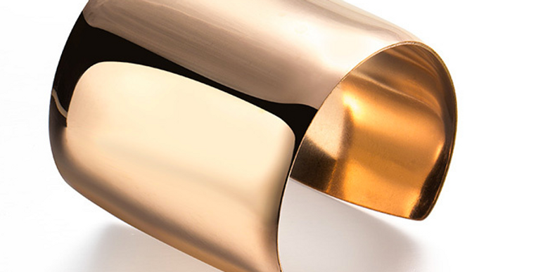 Wide Cuff Bangle (Silver Or Gold)
