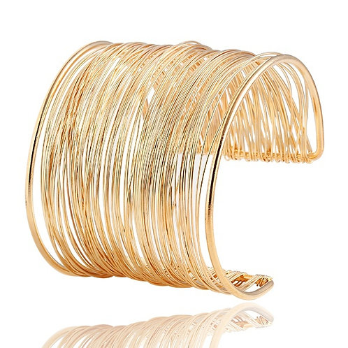 Retro Hollow Cuff Bangle