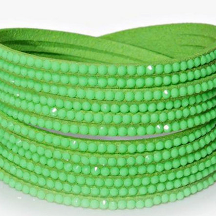 Wrap Around Bling Bracelet (Lime Green)