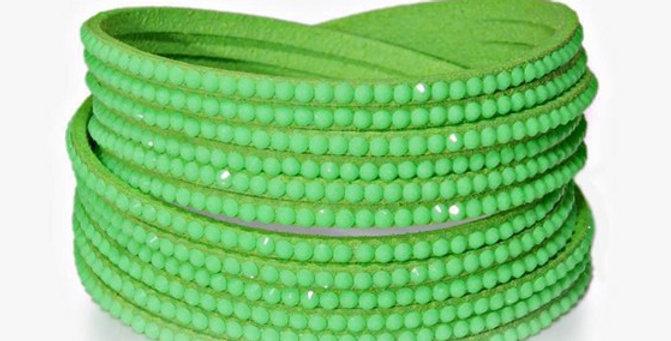 Wrap Around Bling Bracelet (Lime Green)