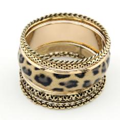 Multi Layer Leopard Bangle