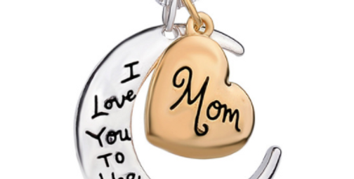 Mom  Necklace (Love you to the Moon..and back)
