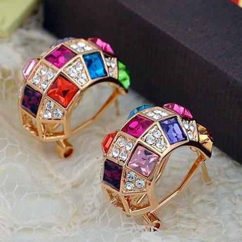 Colorful 18KG Earrings