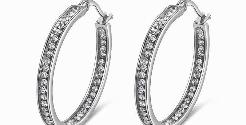 Hoop Earrings (Titanium)