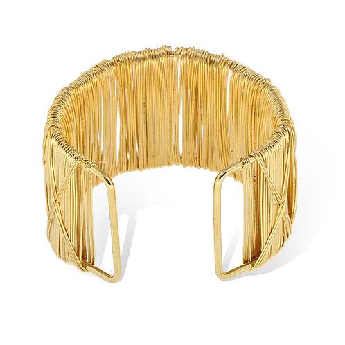 Gold Wire Bangle