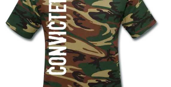 Convicted Unisex Camouflage T-Shirt