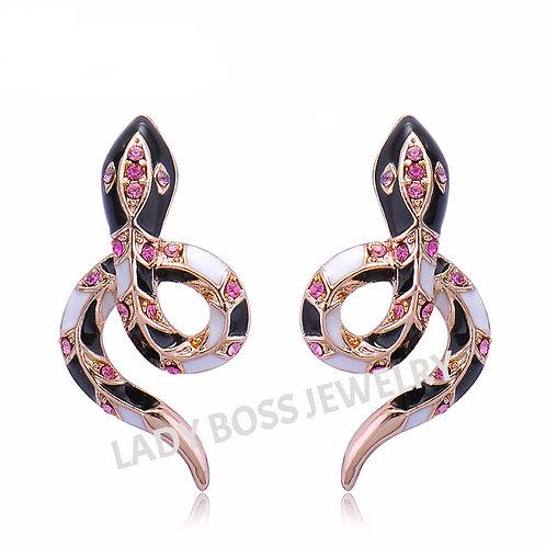 Designer Snake Earrings