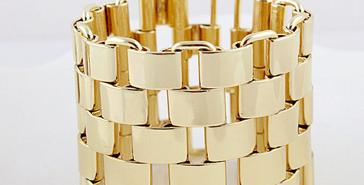 Gold Chain Bangle