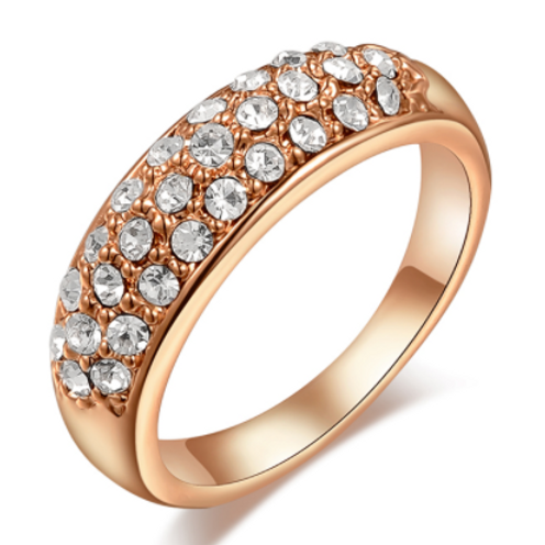 Gold Plated Crystal Band