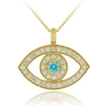 Gold Evil Eye (Protection & Luck)