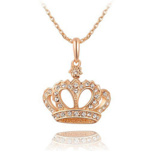 Dainty Crown Necklace (Silver Or Gold)