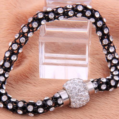 Black & White Crystal Bangle