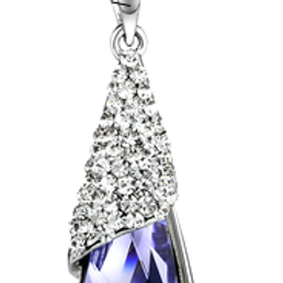 Platinum Plated  Crystal Necklace