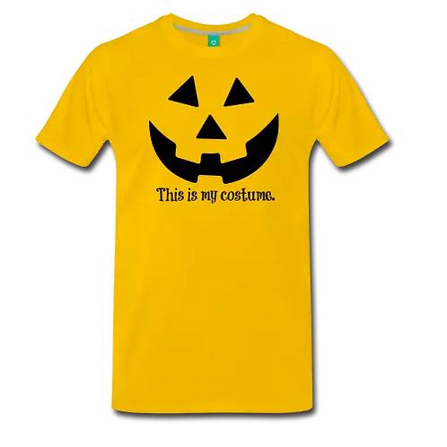 Men's Yellow/Black Halloween Tshirt