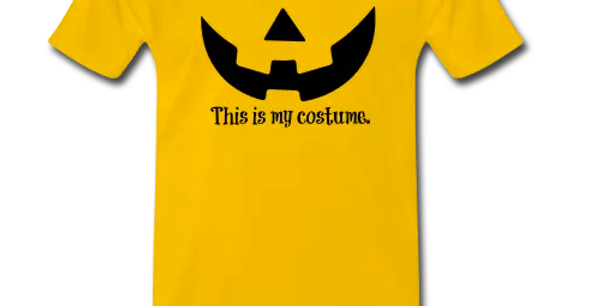 Men's Yellow/Black Halloween Tshirt